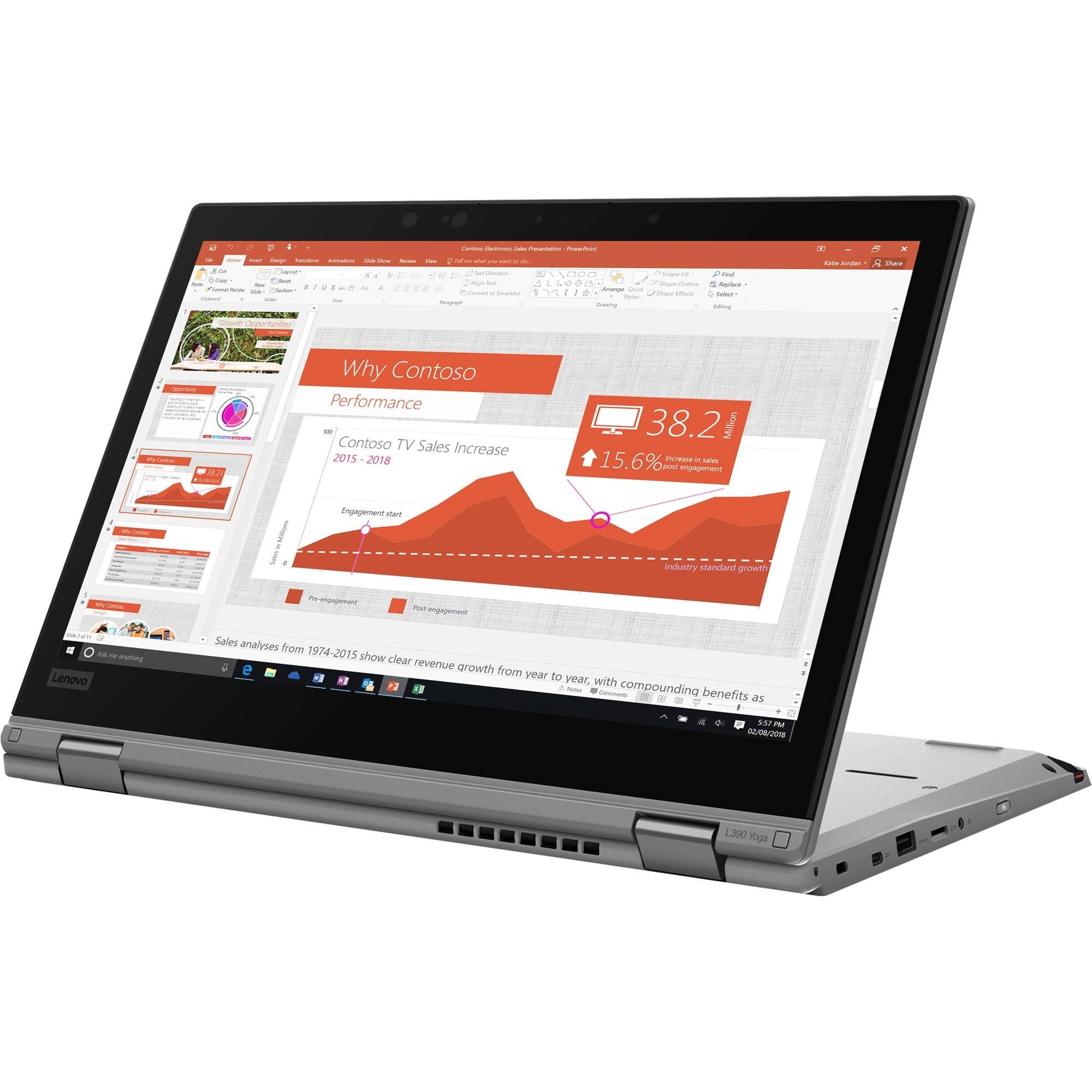 """Image 1 of Bundle Lenovo L390 Yoga I5-8265U 13.3"""" Fhd Touch 256Gb Ssd 8Gb + 3Yos Wty (5Ws0K18197) 20Nts00Q00 20NTS00Q00"""