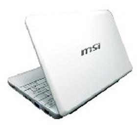 "Image 1 of Msi Wind Netbook U100+ White 160gb Atom N280 1.66ghz, 10""w, 1gb, 160gb, 1.3mp 45887"