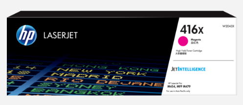 Image 1 of HP 416X Magenta Laserjet Toner Cartridge W2043X W2043X