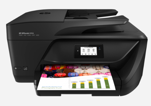 Image 1 of Hp Officejet 6956 Aio Printer A4 16Ppm Blk 9Ppm Clr Wifi Fax 1Yr P4C82A