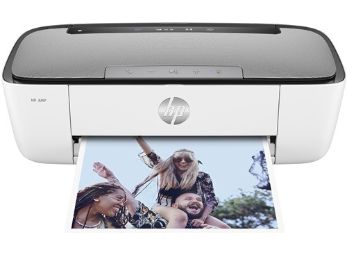 HP AMP Bluetooth Speaker Printer (White)