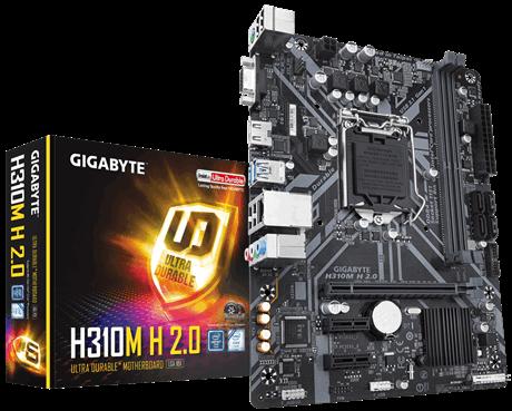 Image 1 of Gigabyte Matx Motherboard: H310 Socket 1151 For Intel 8Th Gen. Processors / GA-H310M-H 2.0 GA-H310M-H 2.0