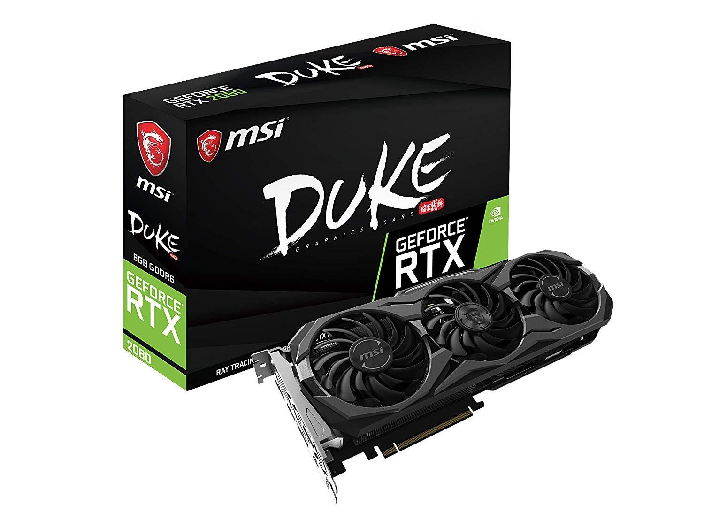 Image 1 of Msi Geforce Rtx 2080 Duke 8g Ddr6 Nvidia Graphic Card Mystic Rgb Trox Fan 2.0 Boost Clock 1845mhz RTX 2080 DUKE 8G OC