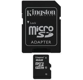 Image 1 of Kingston 16gb Microsdhc Class 4 Flash Card Sdc4/16gb