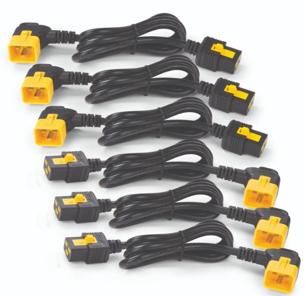 Image 1 of APC POWER CORD KIT (6 EA) LOCKING C19 TO C20 (90 DEGREE) 0.6M Ap8712R AP8712R