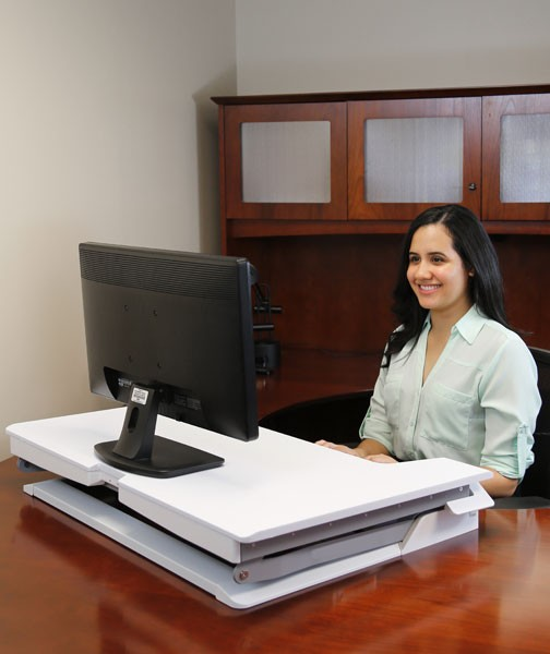 Ergotron Workfit Tl White Sit Stand Tabletop 33 406 062