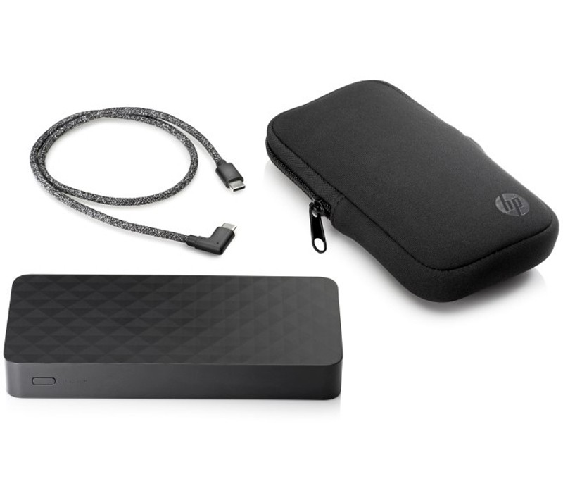 Image 1 of HP 20100mAh USB Type-C Power Bank 2NA10AA, Max 45W, Works with USB-C Charging Laptops 2NA10AA