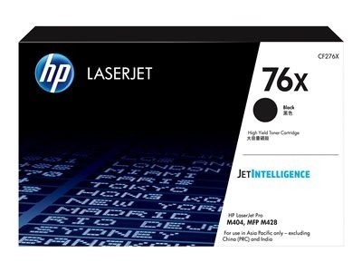 Image 1 of HP 76X Black Toner - High Yield. Approx 10K Pages - For M404 M428 Model Printers Cf276X CF276X
