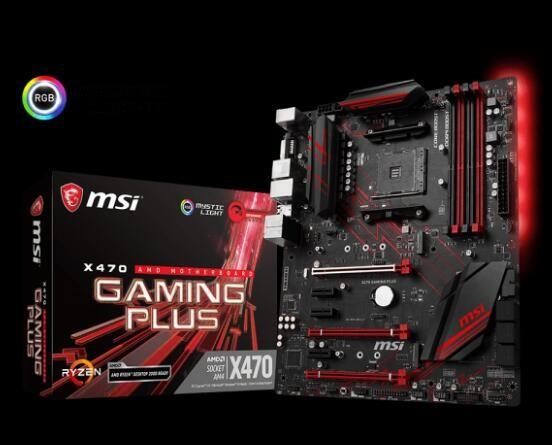 Image 1 of Msi X470 Gaming Plus Am4 Amd X470 Sata 6gb/s Usb 3.1 Hdmi Atx Amd Motherboard X470 Gaming Plus X470 GAMING PLUS