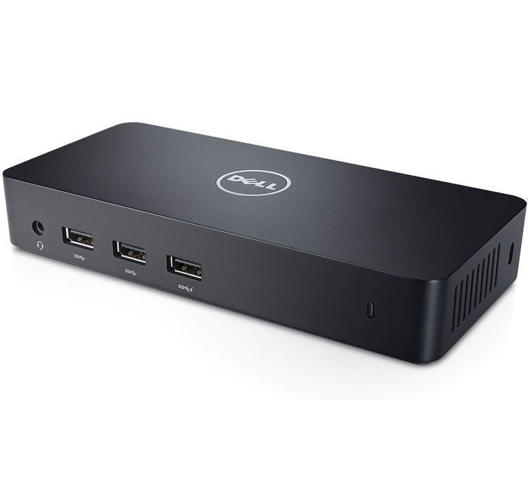 Image 1 of Dell D3100 Ultra HD 4K USB 3.0 Port Replicator, Supports Up to 3 Additional Monitors and More 452-11714 452-11714