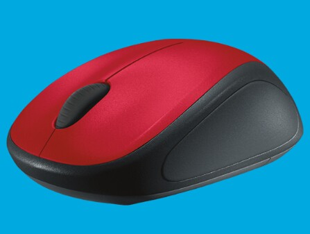 Logitech Wireless Mouse M235 - Red 910-003412