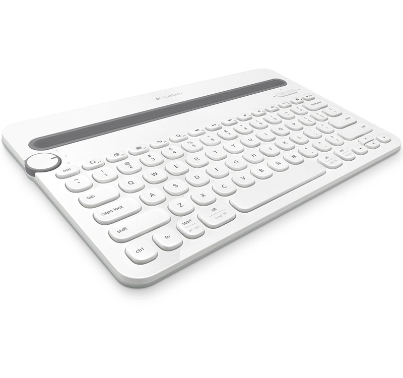 Image 1 of Logitech K480 Bluetooth Multi-device Keyboard White 920-006381 A Wireless Desk Keyboard For Your Computer 920-006381