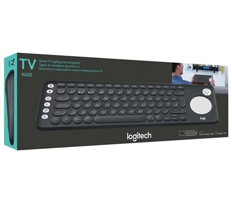 Image 1 of Logitech K600 TV Keyboard With Integrated Touch Pad And D-Pad, Unifying Receiver 920-008843 920-008843