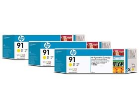 Image 1 of Hp 91, 3 Ink Multi Pack Yellow C9485a C9485A