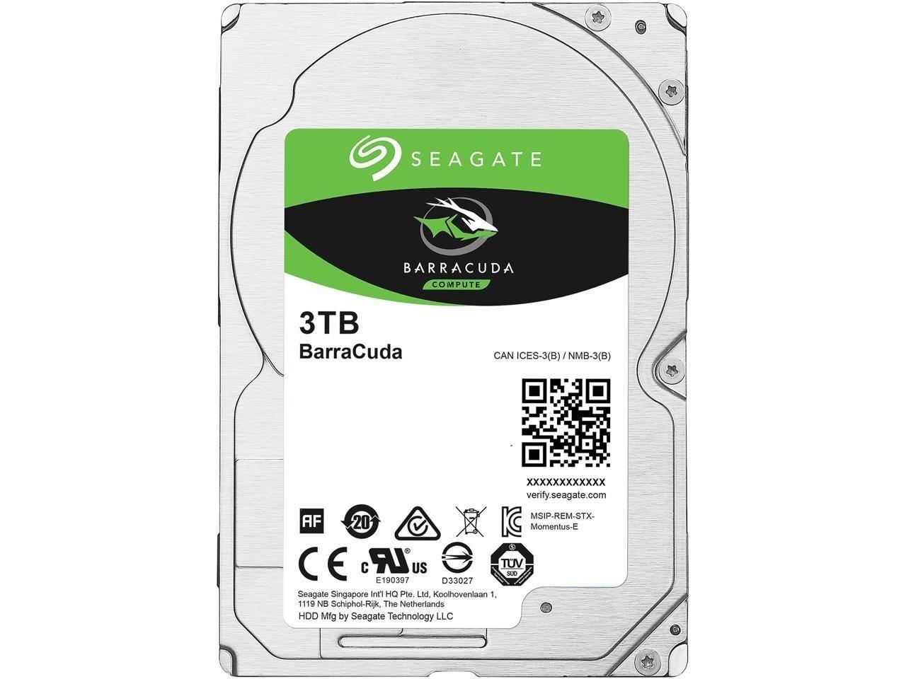 "Image 1 of Seagate Barracuda Internal 2.5"" Sata Drive 3Tb 6Gb/S 5400Rpm 2Yr Wty ST3000LM024 ST3000LM024"