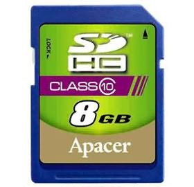 Image 1 of Apacer Sdhc 8gb Class10 Retail For Dslr And Video Recorder, 10mb/ S Minimum Writing Performance AP8GSDHC10-R