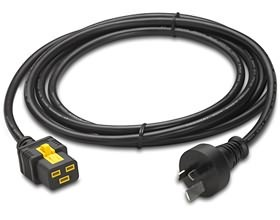 Image 1 of Apc Power Cord C19 Australia Plug 3.0m Locking C19 To Australia Plug 3.0m Ap8754 AP8754