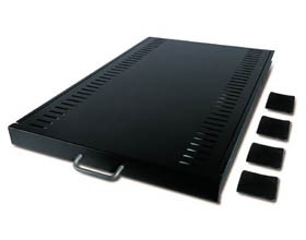 Image 1 of Apc Standard Duty Sliding Shelf - 45kg 4 Post Mounting, Adjustable Mounting Depth, Ar8123blk AR8123BLK