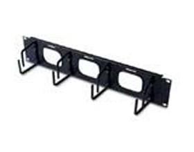 Image 1 of Apc 2u Horizontal Cable Organizer W/ Pass Through Black Ar8428 AR8428