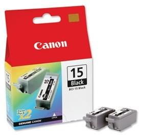 Image 1 of Canon Bci15bk Black Ink Tank (twin Pack) For I70 I80 Ip90 Bubble-jet Portable Printer Bci15bk BCI15BK