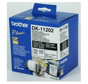 Image 1 of Brother Dk11202 White Shipping Name Badge Labels 62 X 100mm 300 Labels DK-11202