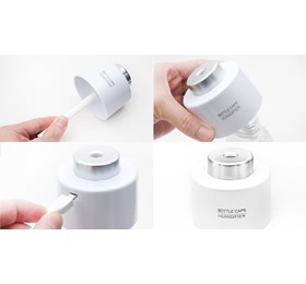 Image 1 of Mini Portable Bottle Cap Air Humidifier With Usb Cable White, Moisture Relief