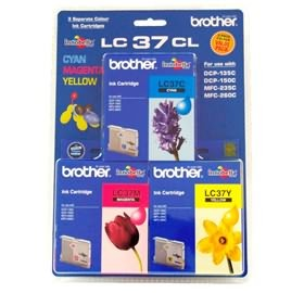 Image 1 of Brother Lc37cl3pk Brthr Lc37c, M, Y Color Pack For Dcp135c/ 150c Mf260c Mfc235c