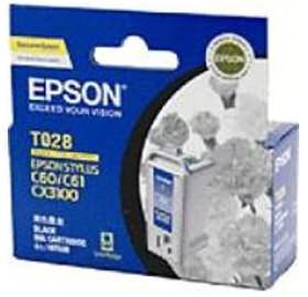 Image 1 of Epson T028 Black Ink Cartridge - C60 C61 Cx3100 420 Pages C13t028091 C13T028091