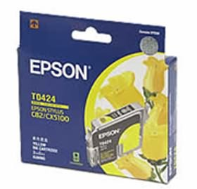 Image 1 of Epson T0424 Yellow Ink - Stylus C82, Cx5100, Cx5300 C13t042490 C13T042490