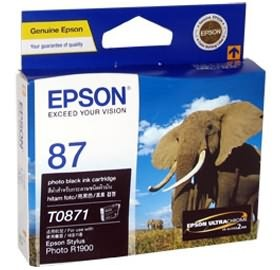 Image 1 of Epson T0871 Photo Black Ink Cartridge R1900 C13t087190 C13T087190