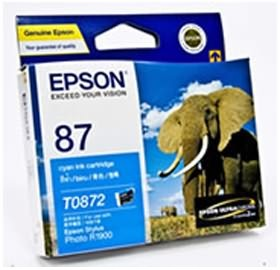 Image 1 of Epson T0872 Cyan Ink Cartridge R1900 C13t087290 C13T087290