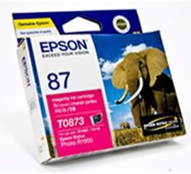Image 1 of Epson T0873 Magenta Ink Cartridge R1900 C13t087390 C13T087390