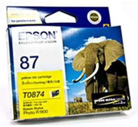 Image 1 of Epson T0874 Yellow Ink Cartridge R1900 C13t087490 C13T087490