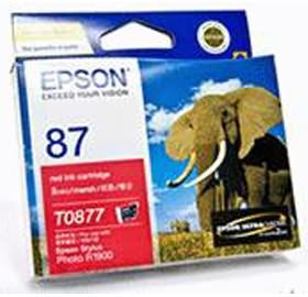 Image 1 of Epson T0877 Red Ink Cartridge R1900 C13t087790 C13T087790