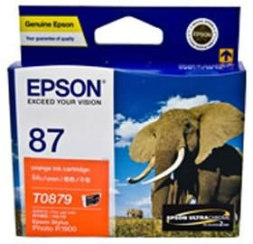 Image 1 of Epson T0879 Orange Ink Cartridge R1900 C13t087990 C13T087990