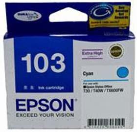 Image 1 of Epson 103 Extra High Cap Ink Cartridge Cyan C13t103292 C13T103292