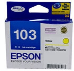 Image 1 of Epson 103 Extra High Cap Ink Cart Yellow C13t103492 C13T103492