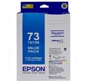 Image 1 of Epson 73n Ink Cartridge & Paper Value Pack C13t105192bp C13T105192BP