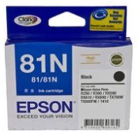 Image 1 of Epson 81n High Capacity Claria Ink Cart Black C13t111192 C13T111192