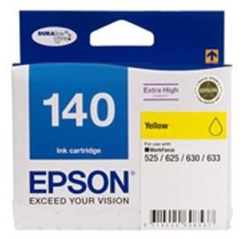 Image 1 of Epson 140 Extra High Capacity Yellow Ink Cartridge Workforce 840 633 630 625 525 60 C13t140492 C13T140492