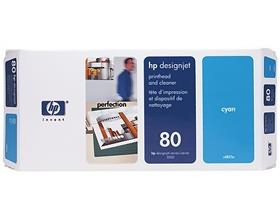 Image 1 of Hp 80 Printhead & Cleaner Cyan C4821a C4821A