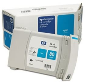 Image 1 of Hp No 80 Cyan Ink Cartridge 350ml C4846a C4846A