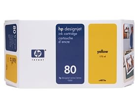 Image 1 of Hp 70 Ink Cartridge 350 Ml Yellow C4848a C4848A