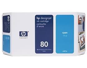 Image 1 of Hp 80 Ink Cartridge 175ml Cyan C4872a C4872A