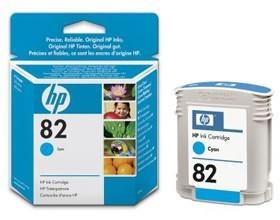 Image 1 of Hp No 82 Ink Cartridge Cyan C4911a C4911A
