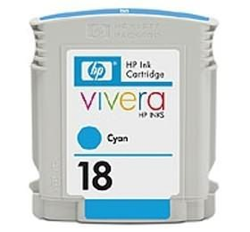 Image 1 of Hp 18 Ink Cartridge Cyan C4937a C4937A
