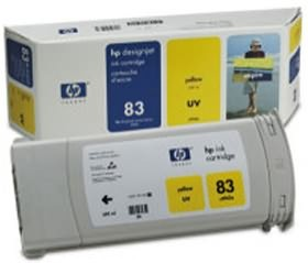 Image 1 of Hp No 83 Uv Ink Cartridge Yellow C4943a C4943A
