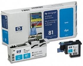 Image 1 of Hp 81 Cyan Dye Printhead And Cleaner C4951a C4951A