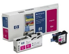 Image 1 of Hp No 81 Dye Printhead And Cleaner Magenta C4952a C4952A