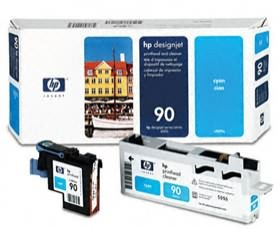 Image 1 of Hp 90 Printhead And Cleaner Cyan C5055a C5055A